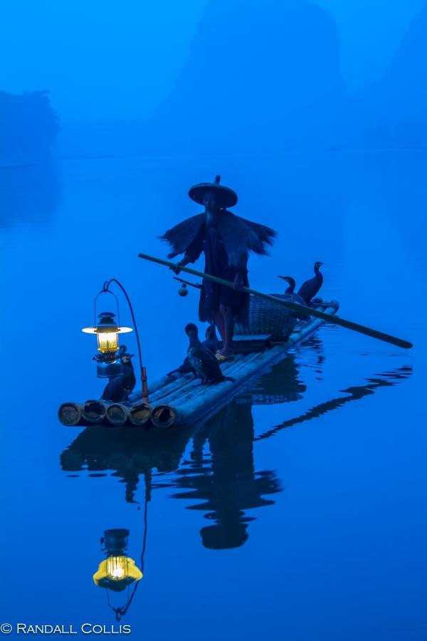 Cormorant Fisherman of Ancient Folklore - Li River, Guangxi 丽江广西