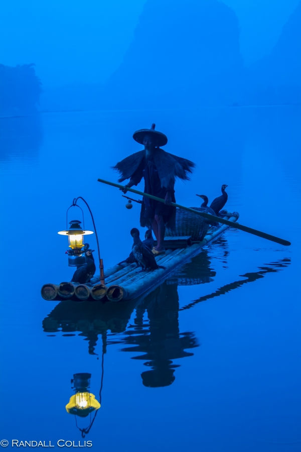 Cormorant Fisherman of Ancient Folklore - Li River, Guangxi 丽江广西