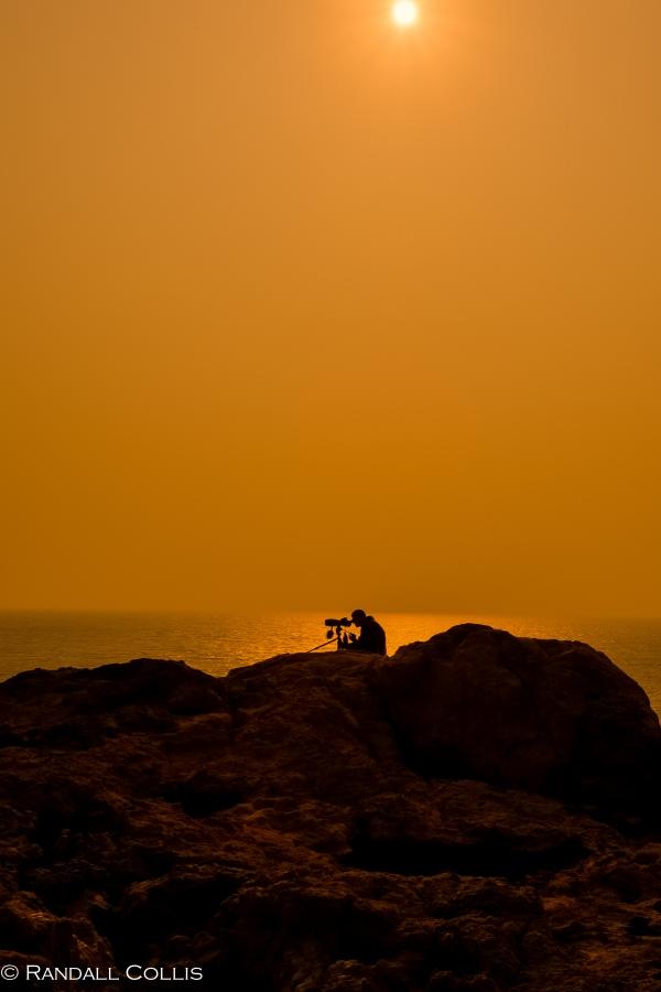 Bird Watcher in Solitude, Po Toi Island Hong Kong