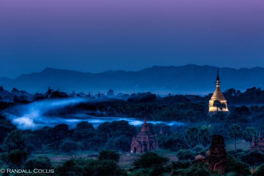 Bagan Myanmar Golden Hour - Blue Hour-1