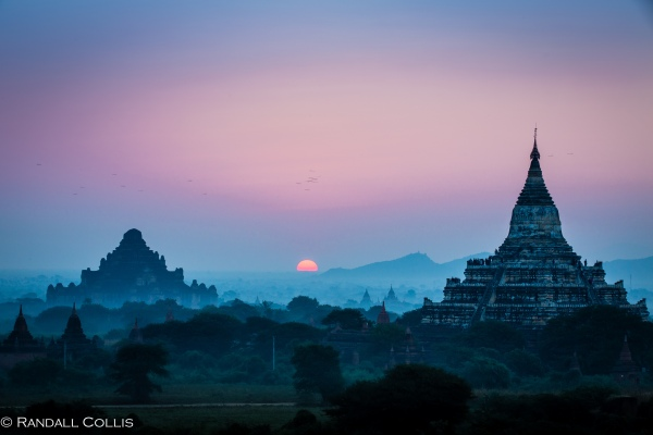Bagan Myanmar Golden Hour - Blue Hour-77