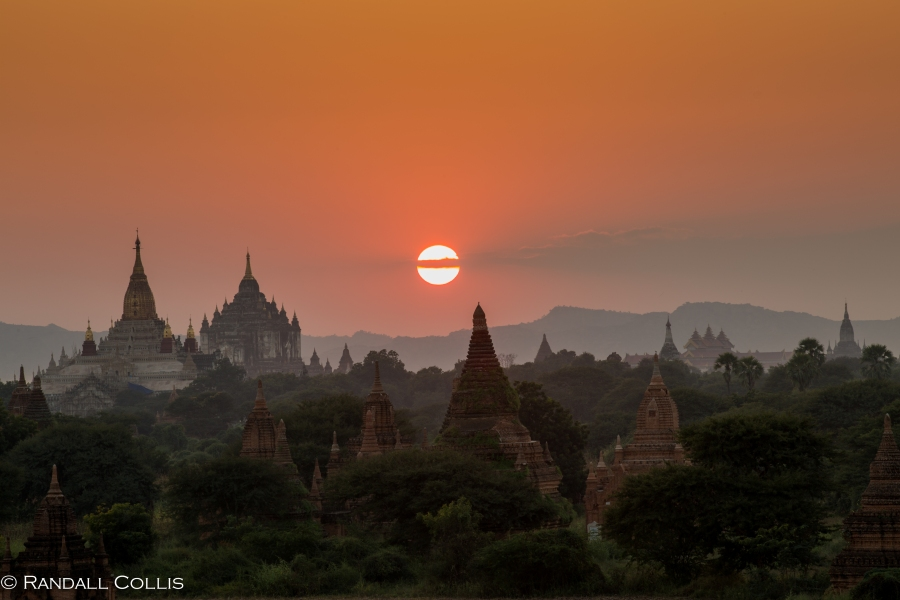 Bagan Myanmar Golden Hour - Blue Hour-78