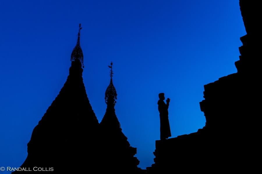 Bagan Myanmar Golden Hour - Blue Hour-8