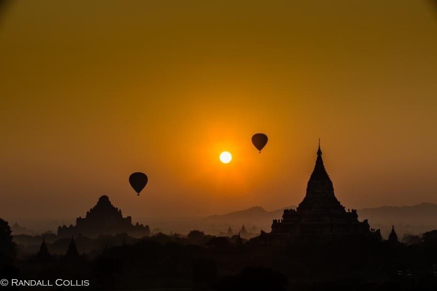 Bagan Myanmar Golden Hour - Blue Hour-80