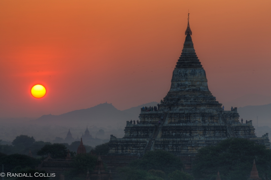 Bagan Myanmar Golden Hour - Blue Hour-83