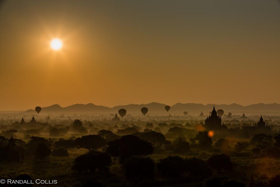 Bagan Myanmar Golden Hour - Blue Hour-84