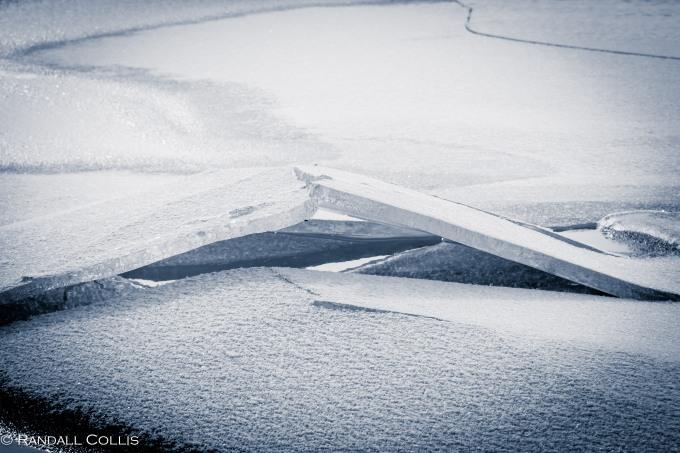 Winter Ice on Lake