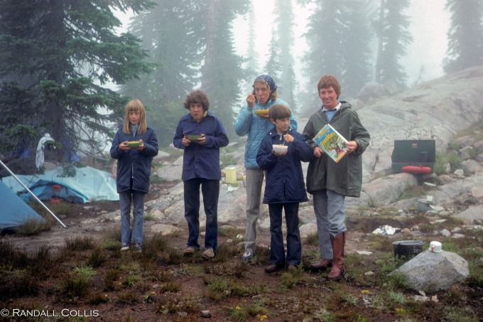 """Our """"Freakies Cereal"""" Ad in the Wallowas Amid the Rain..."""