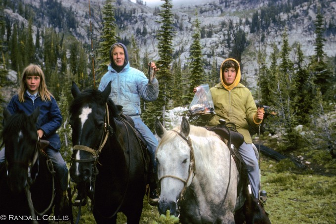Sisters and their horses bringing home dinner